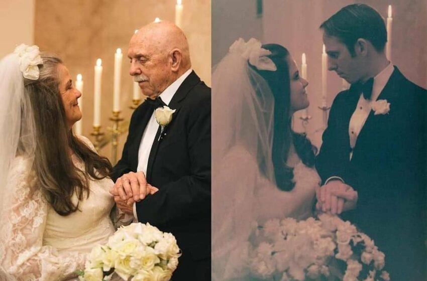 Ca din poveste! Un cuplu din New Orleans a sărbătorit 50 de ani de căsătorie exact ca în ziua nunții