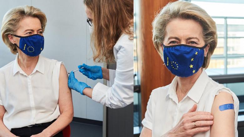 Celor mai puternice femei din Europa le-a venit rândul la vaccinare. Cu ce se imunizează Angela Merkel și Ursula von der Leyen