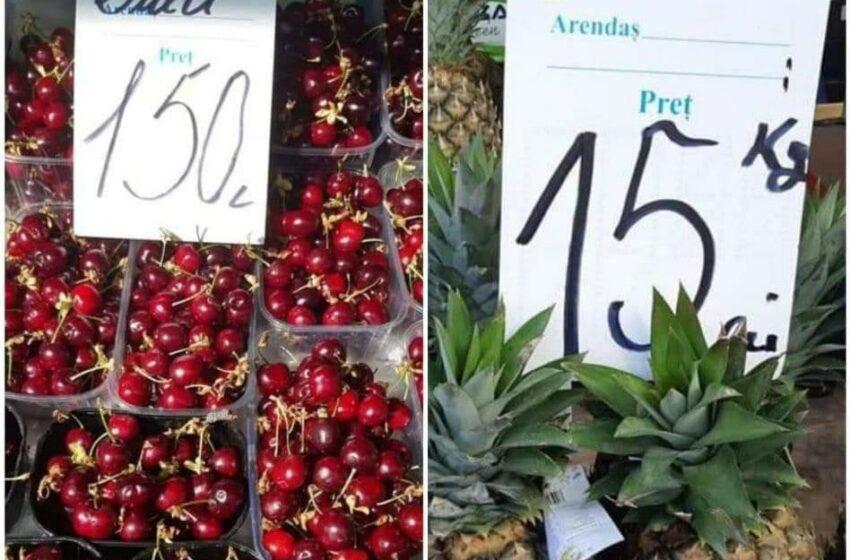 """Cireșe de 150 lei/kg la Chișinău. Vlad Codreanu: """"Anul acesta mănânc numai ananas"""""""