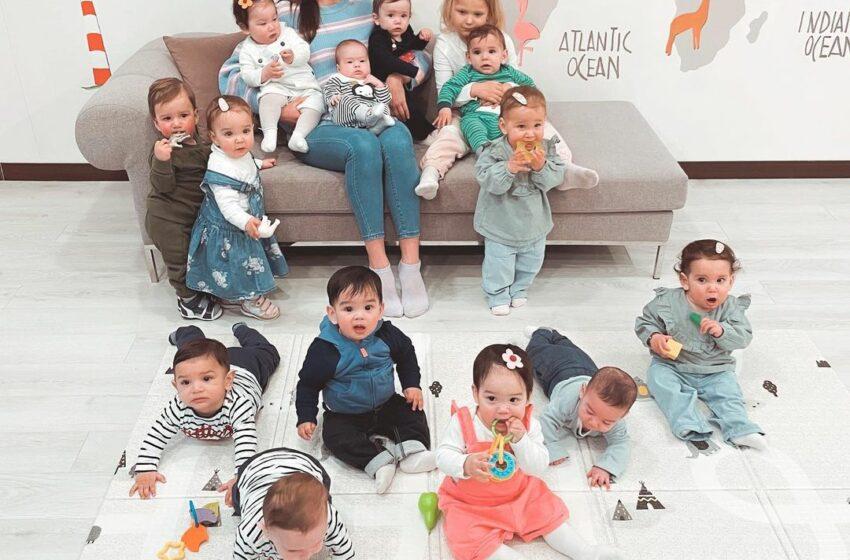 O rusoaică de 23 de ani are deja 14 copii biologici și vrea să ajungă la 100