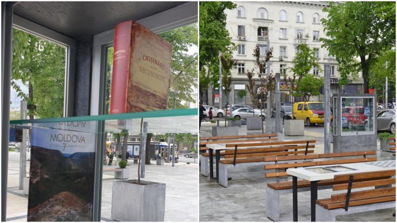 """Bibliotecă în are liber, într-un scuar din capitală: """"Încurajăm oamenii să citească"""""""