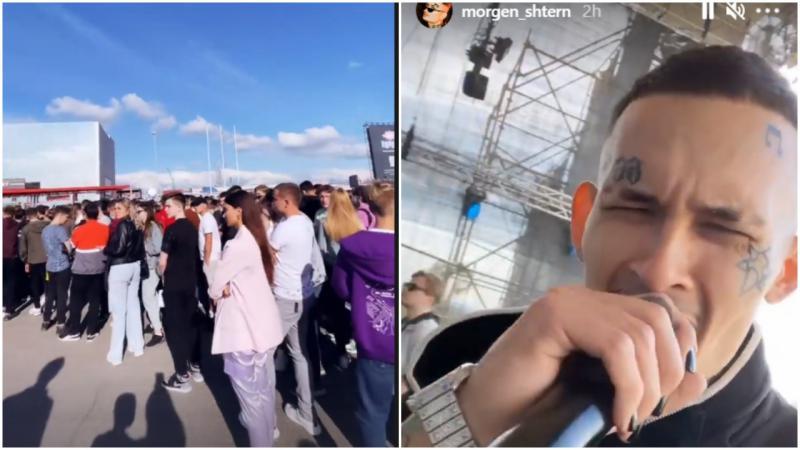 """(video 18+) """"Кишинёв, готов н*xуй!"""". Morgenshtern își dă întâlnire cu fanii de la Chișinău: Cozi imenze formate cu o oră înainte de show"""