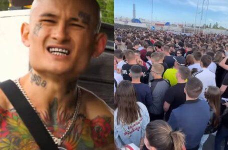 """(video) Un blogger a achitat pentru acces VIP la concertul lui Morghenshter, dar nu a mai ajuns: """"Stăm aici îmbulziți, ca proștii, la o singură poartă"""""""