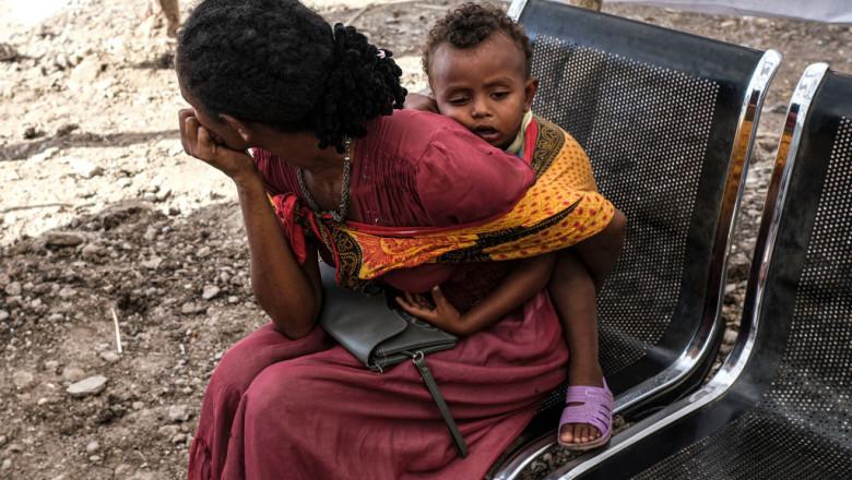 """""""Moartea ne bate la ușă"""". Peste 350.000 de oameni dintr-o regiune a Etiopiei nu mai au nimic de mîncare"""