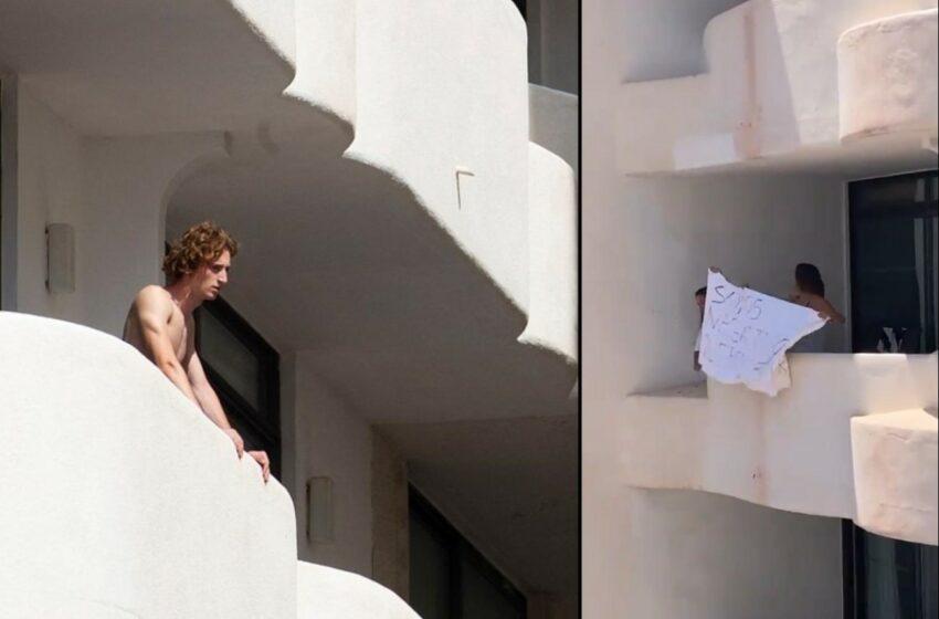 """Sute de studenți izolați la un hotel Covid scandează și strigă de la balcoane: """"Lăsați-ne liberi! Vrem să plecăm!"""""""