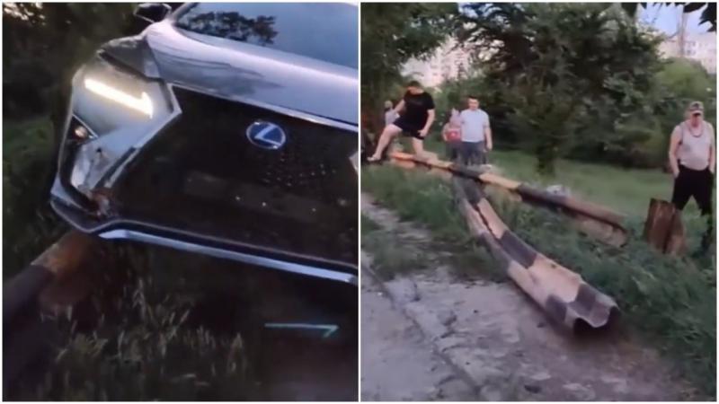 """(video) A lăsat Lexus-ul la spălat, dar l-a găsit în parapet: """"Ce să-i spun stăpânului acum? Dacă mâine va cere o nouă mașină?"""""""