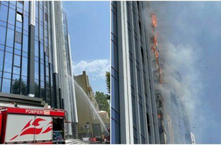 Trei versiuni în cazul incendiului de la blocul de lux din capitală