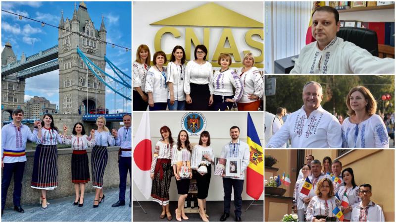 Poartă ie cu mândrie: Din Japonia, până la Chișinău, zeci de persoane s-au afișat în bluzele românești pe rețelele sociale
