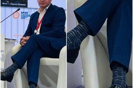 Șosetele vesele, purtate de Ion Ceban la un Forum, criticate de stilista Alina Carauș: Nu trebuie să admită așa greșeli