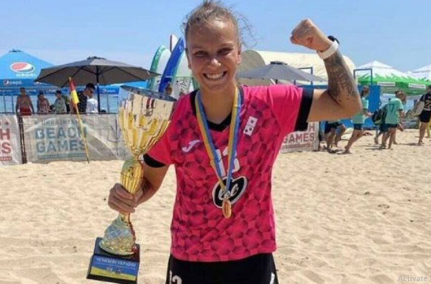 Moldoveanca Irina Topal a devenit campioana Ucrainei la fotbal de plajă