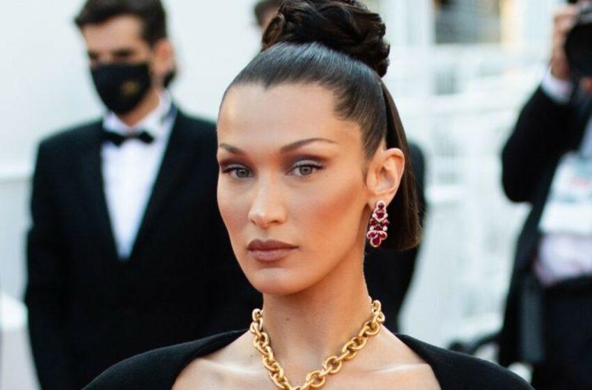 FOTO A purtat o bijuterie pe post de sutien. Bella Hadid, apariție spectaculoasă pe covorul roșu de la Cannes