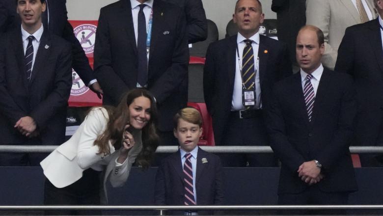 Imagini virale: Reacția prinţului George la golul marcat de Anglia în finala Euro 2020