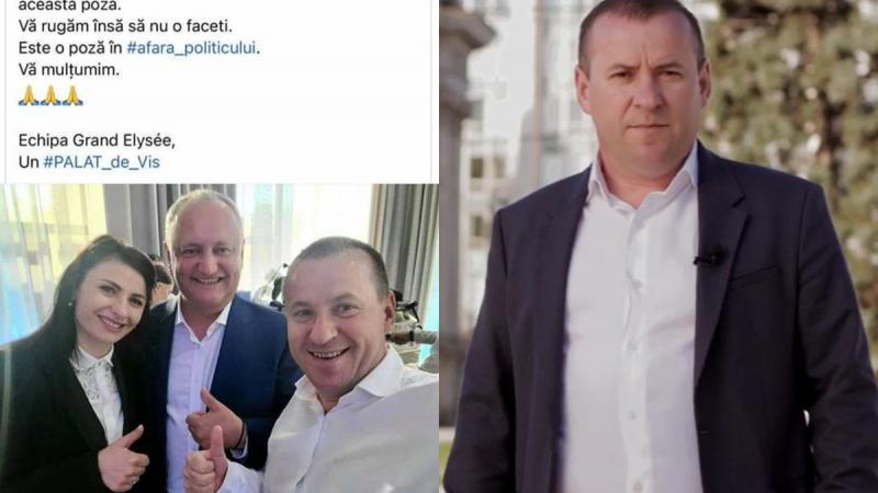 Omul de afaceri Sergiu Postică părăsește Partidul Schimbării, după un scandal legat de o poză de la o nuntă, în care apare și Igor Dodon