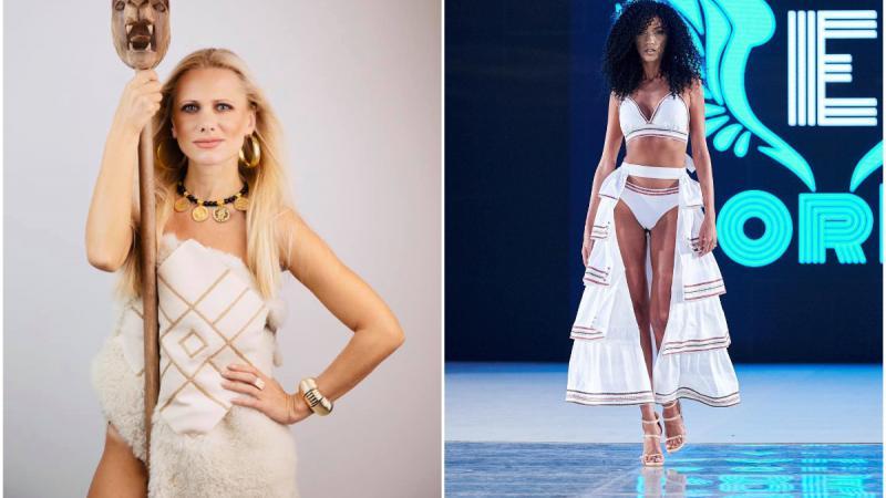 (VIDEO) O moldoveancă a deschis Săptămâna modei de la București. Corina Hamureac este creatoarea costumelor de baie, inspirate din cultura geto-dacă