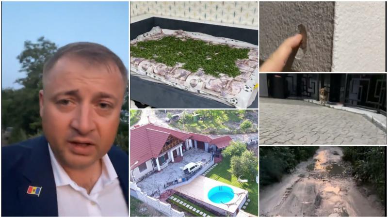 (video) Ce ascunde Cavcaliuc după poarta casei: Până aici glod, penoplastul cel mai ieftin. Usuc pătrunjel