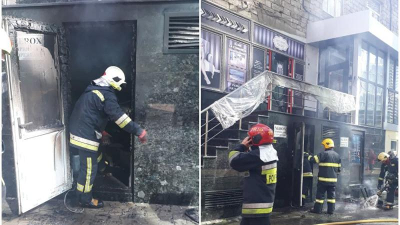 Incendiu în centrul capitalei: Flăcările au cuprins subsolul sediului Ministerului Tehnologiilor și Poștei Moldovei