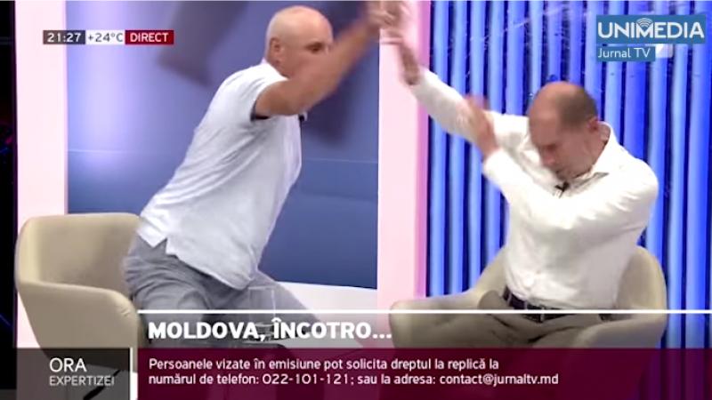 Partidul Schimbării a venit cu o reacție la bătaia în direct dintre membrul PS, Sergiu Tofilat și fostul polițist, Ghenadie Cosovan