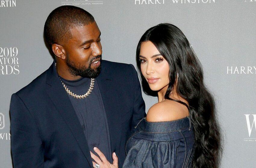 Anulare de divort? Kim Kardashian a ieșit în scenă în rochie de mireasă, apoi a plecat de mână cu West