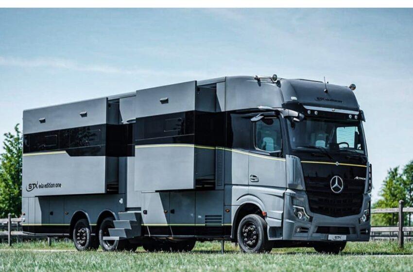 (VIDEO/FOTO) Cum arată camionul european, cu cel mai luxos apartament la bord
