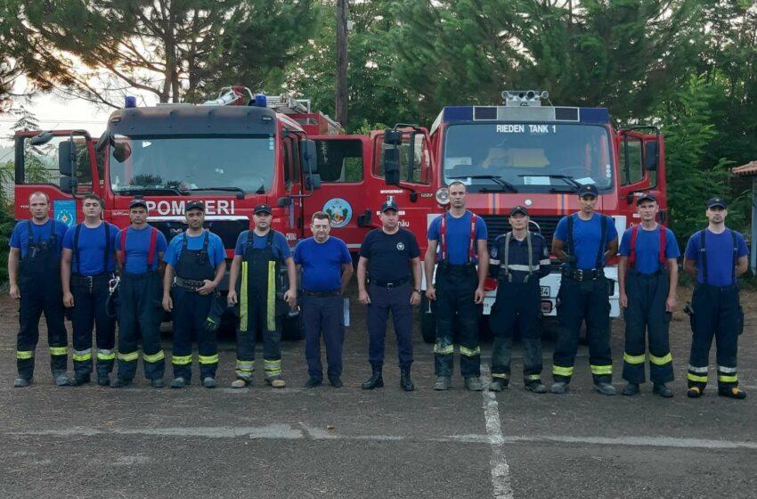(VIDEO) Pompierii noștri ajung astăzi acasă. Au fost petrecuți cu aplauze și onoruri