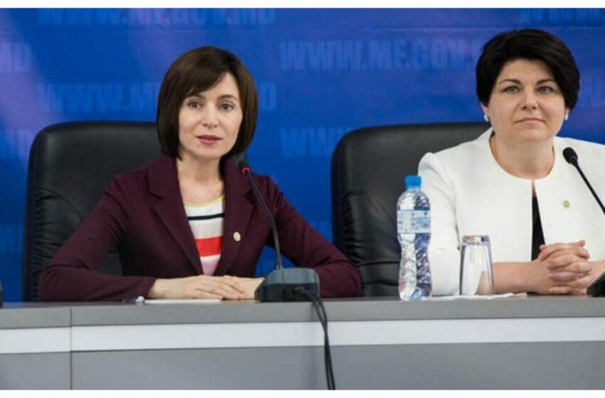 (FOTO) Maia Sandu și Natalia Gavrilița au ales ținute de aceeași culoare de Ziua Independenței