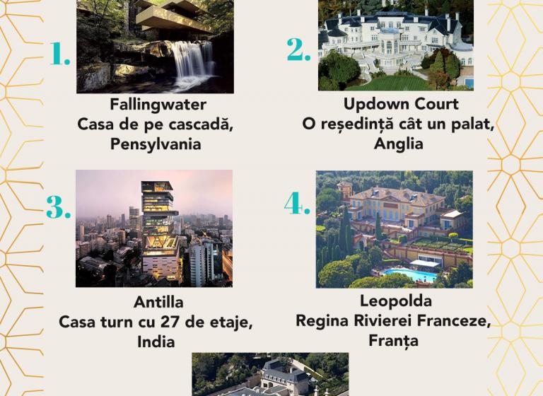 Top 5 cele mai frumoase case din lume