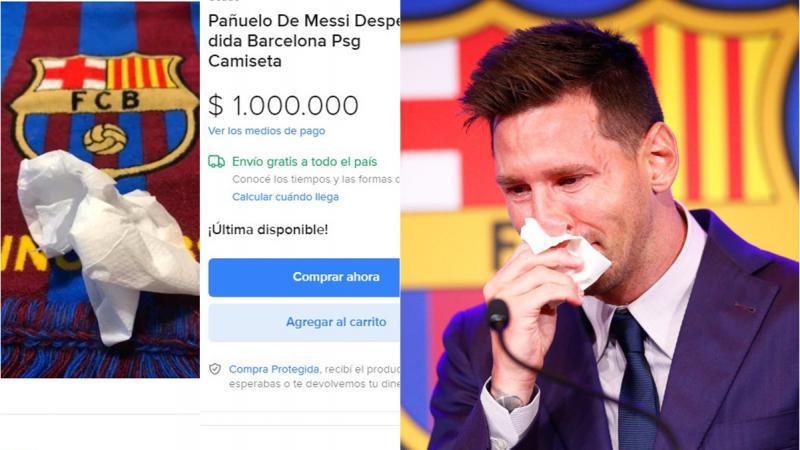"""""""Lacrimile lui Messi"""", vândute cu 1 milion de dolari: Un microbist ar fi scos în vânzare șervețelul de hârtie folosit de fotbalist"""