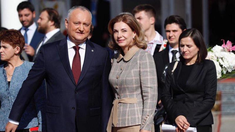 Igor Dodon a plecat la Moscova, împreună cu soția sa, Galina