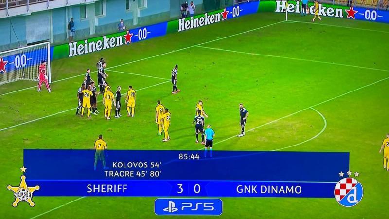 Campioana Sheriff face senzație în Champions League: 3-0 cu Dinamo Zagreb