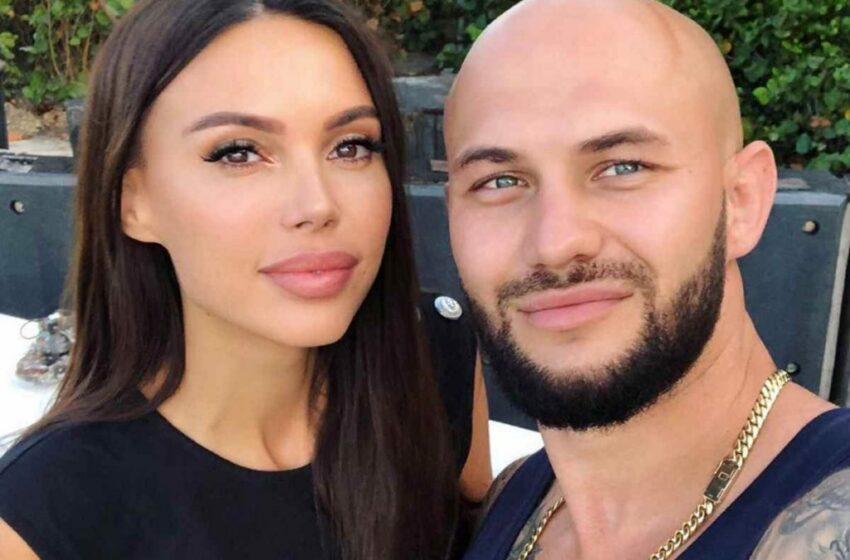 Oxana Samoilova și soțul său Djigan, într-o călătorie la Santorini