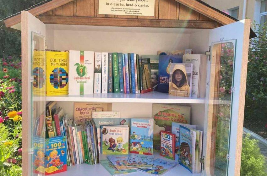 """(FOTO) Prima bibliotecă în aer liber """"Căsuța mea"""" a apărut la Călărași"""