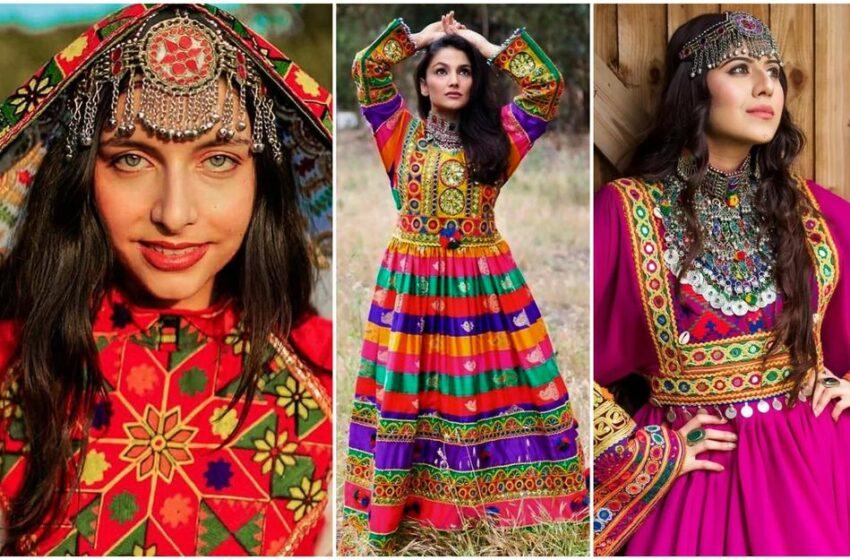 Femeile afgane luptă pentru libertate postând imagini în care poartă costume naționale