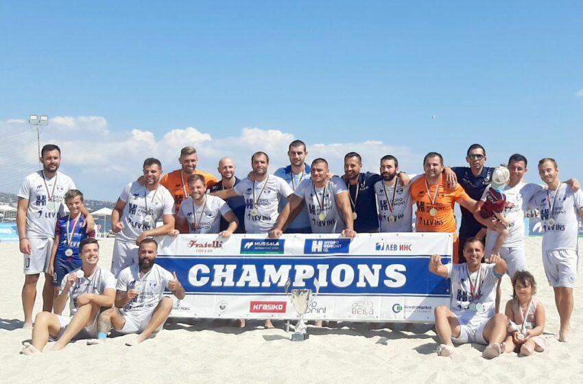 (FOTO) Moldoveanul Andrei Negara, campion al Bulgariei, la fotbal de plajă