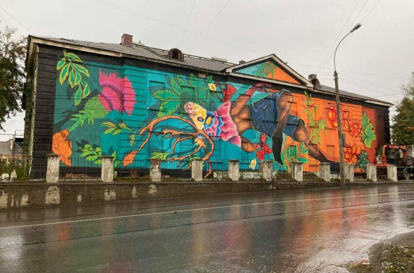 """(FOTO) Pictura murală a unui artist urban din Moldova a ajuns, la Murmansk: """" O parte din călătoria mea în nordul îndepărtat"""""""