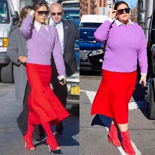 (FOTO) O tânără repetă imaginile celebrităților, pentru a dovedi că mărimea nu contează!