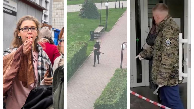 """""""Voi face totul pentru a ucide cât mai mulți"""", mesajul înfiorător al atacatorului de la universitatea din Rusia. Au apărut noi imagini"""