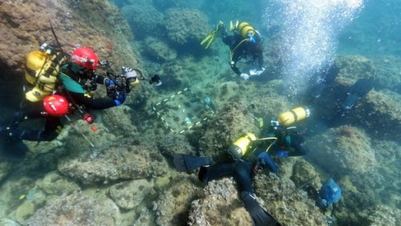 Comoară cu aur din timpul Imperiului Roman, la fundul mării. Descoperirea făcută de doi scafandri amatori