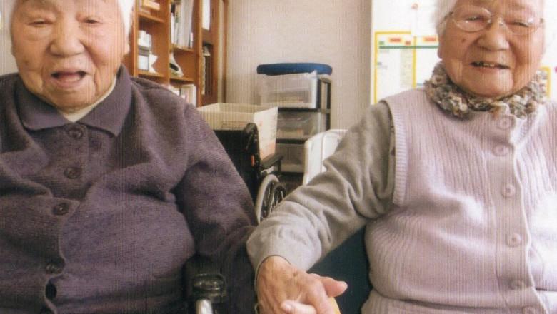 Două japoneze de 107 ani au stabilit un nou record pentru cei mai în vârstă gemeni identifici din lume
