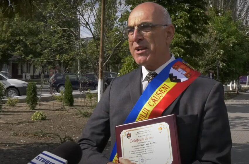 Cum a ajuns un italian Cetățean de Onoare al raionului Căușeni: Vezi istoria lui Gian Luca del Marco în Moldova