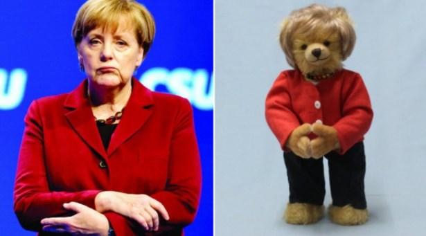 Ursul de pluș Angela Merkel a apărut pe piață și costă 189 de euro