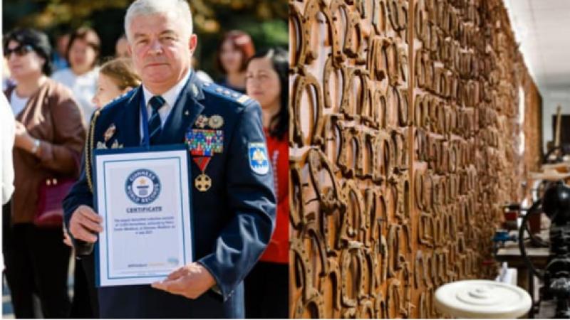 Un nou record Guinness pentru Moldova. Fondatorul Muzeului Serviciului Vamal, Petru Costin, a impresionat iar prin colecția sa impunătoare
