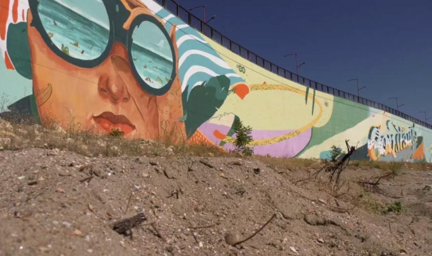 Vezi cum arată cea mai mare pictură murală din lume, care are capacitatea de a filtra aerul
