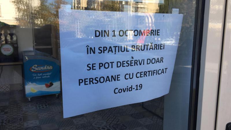 (video/foto) Nici mâncare la pachet, fără certificat Covid: Localurile, pustiite după noile restricții